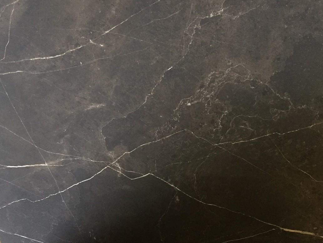 Vloertegel 75x75 cm Marmerlook antraciet A11 Mat
