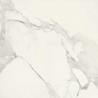 Hoogglans vloertegels 80x80 cm Marmerlook wit A77