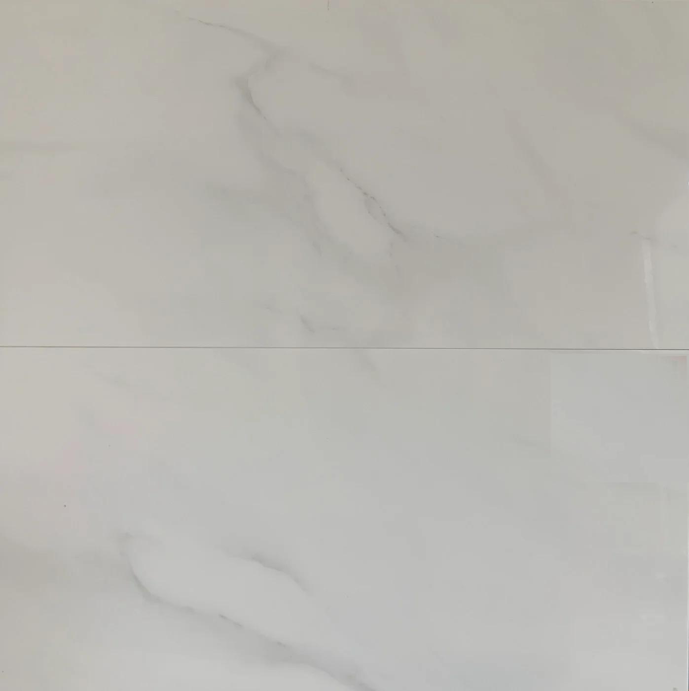Hoogglans Wandtegel 30x60 Cm Carrara Wit J6 Tegel Outlet Tiel