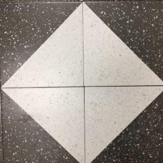 Decortegel 20x20 cm Zwart Wit Graniet look
