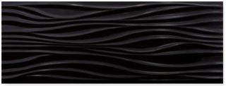 hoogglans wandtegel 32x89 cm zwart Wave H82 ook in mat leverbaar