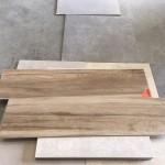 houtlook tegels 30x120 cm S1 donker bruin