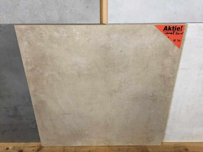 Aanbieding Terrastegels 60x60.Vloertegel 60x60 Cm Taupe Beige Betonlook H30